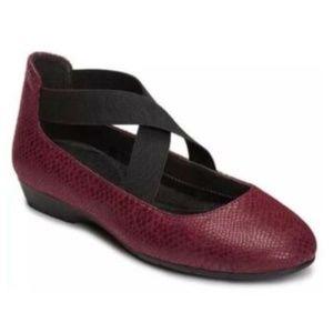 Aerosoles Flats Slip On Strappy Fabric Shoes 7.5 M